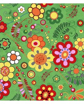 Mocheta Florala verde
