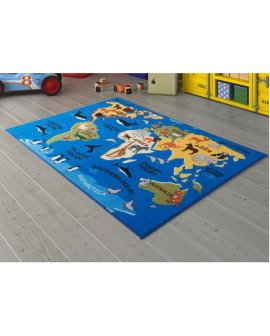 Covor Continents Blue
