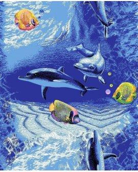 Covor copii Delfini