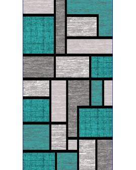 Covor Pamir Gri/Turquoise