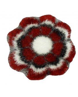Covor Defier Floare Rosu-Alb