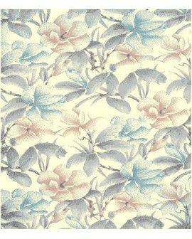 Covor Luna Flori Albastru/Roz