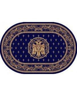 Covor Lotus Bisericesc Albastru Oval lungime