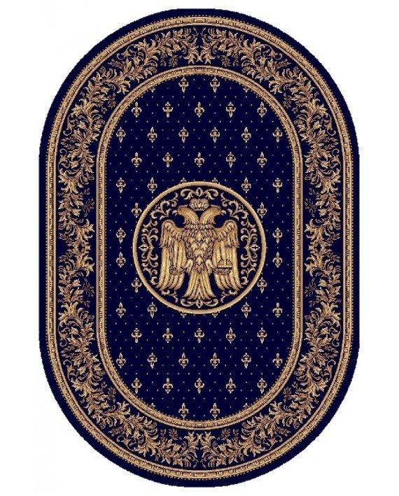 Covor Lotus Bisericesc Albastru Oval latime