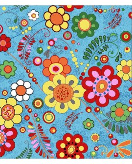 Mocheta Copii Florala Albastra